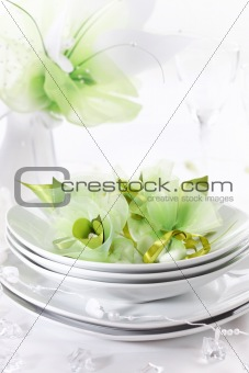 Luxury place setting for wedding