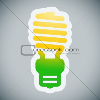 Energy saving lamp illustration