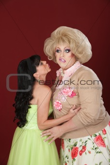 Lady Kisses A Drag Queen
