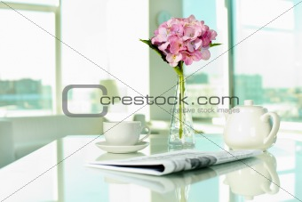 Objects on table