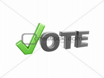 green vote check symbol