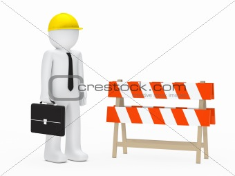 businessman barrier