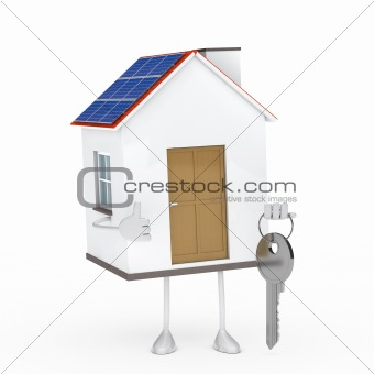house figure with key
