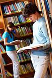 At library