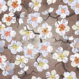 Sakura seamless pattern. EPS 10 vector illustration