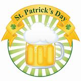 A glass of fine beer for St. Patrick&#39;s day EPS 8 vector illusrtation