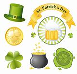 St. Patrick&#39;s Day icon set. EPS 8 vector illustration