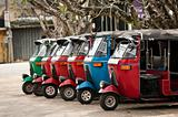 Tuk-tuk is a popular asian transport as a taxi.
