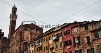 Palazzo Publico and Piazza del Campo in Siena, Italy