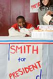 Boy running for president