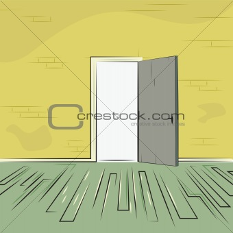 exit door from old room