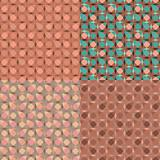 vector set seamless pink geometric pattern