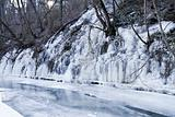 ice over river
