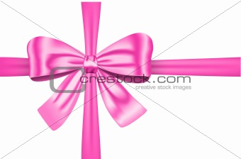 Pink gift ribbon with bow
