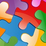 Vector illustration of puzzle pieces