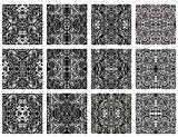 Set of 20 monochrome modern seamless patterns