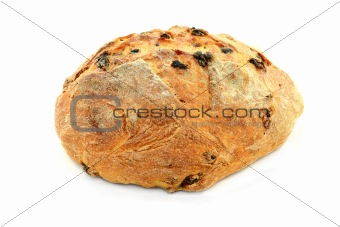 Loaf Raisin, Honey and Hazelnut Bread.