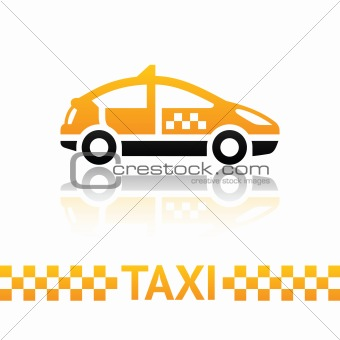 Taxi cab symbol