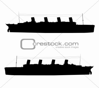 titanic silhouette