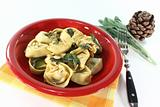 fresh stuffed tortellini with sage butter