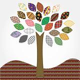 tree - needlework stylization