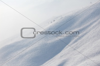 ski traces on snow