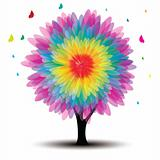 vector tree with flower
