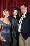 Parents and graduating daughter