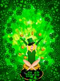 Girl Leprechaun Shamrock Four Leaf Clover Background