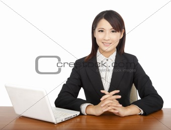 asian businesswoman with laptop