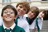 Smiling schoolboys