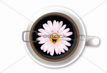 Chamomile in coffee