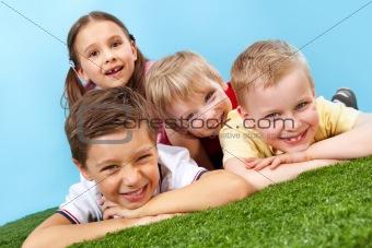 Resting kids