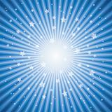 vector abstract background of blue star burst