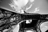 Eiffel Tower from the bottom. Paris, France