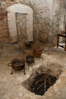 ancient kitchen room
