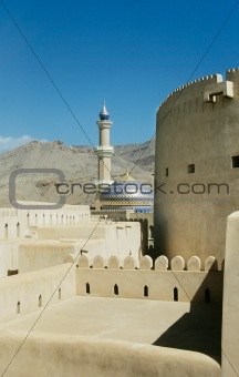 Nizwa fort and mosque