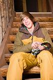 Young man in skiwear