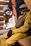 Young couple in skiwear
