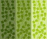 Seamless floral background with a vine