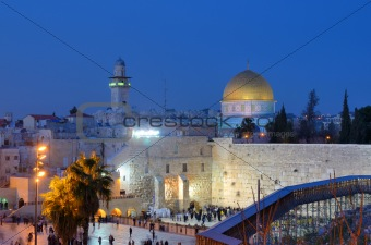Western Wall and Dome of the Rock
