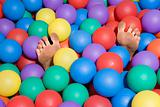 Feet in a ball pool