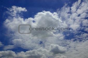Beauty Cloud With Blue Sky
