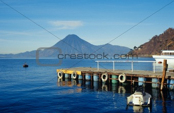 Jetty on lake atitlan