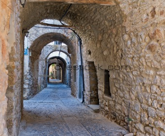 Arches in the village of Mesta in Chios