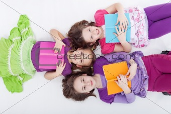 Girls reading afternoon