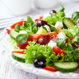 Mediterranean-Style Salad with Feta and Olives