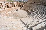 the Large South Theatre - in antique town Jerash