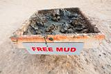  free mud on coast of Dead Sea