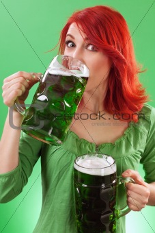 Drinking green beers